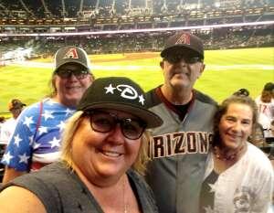 Marie attended Arizona Diamondbacks vs. San Francisco Giants - MLB on Jul 4th 2021 via VetTix