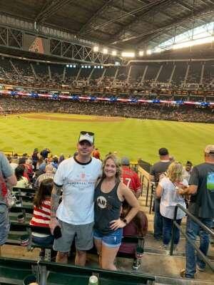 Devon G attended Arizona Diamondbacks vs. San Francisco Giants - MLB on Jul 4th 2021 via VetTix