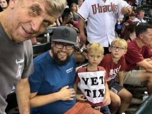 Jerry attended Arizona Diamondbacks vs. San Francisco Giants - MLB on Jul 4th 2021 via VetTix