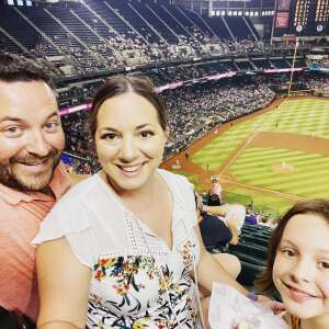 Lilly Family attended Arizona Diamondbacks vs. Chicago Cubs - MLB on Jul 16th 2021 via VetTix