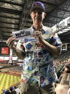 Jeff of Scottsdale attended Arizona Diamondbacks vs. Chicago Cubs - MLB on Jul 16th 2021 via VetTix