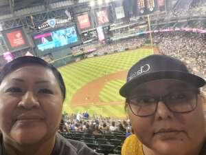 Lynnora attended Arizona Diamondbacks vs. Chicago Cubs - MLB on Jul 16th 2021 via VetTix
