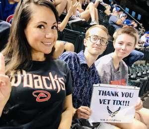 Karina attended Arizona Diamondbacks vs. Chicago Cubs - MLB on Jul 16th 2021 via VetTix
