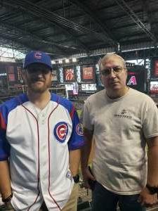 RazorUSMC attended Arizona Diamondbacks vs. Chicago Cubs - MLB on Jul 16th 2021 via VetTix