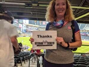 Lynn Hooper attended Arizona Diamondbacks vs. Chicago Cubs - MLB on Jul 16th 2021 via VetTix