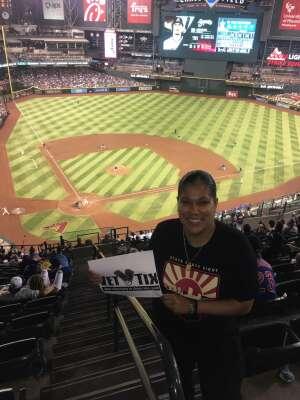 Anne attended Arizona Diamondbacks vs. Chicago Cubs - MLB on Jul 16th 2021 via VetTix