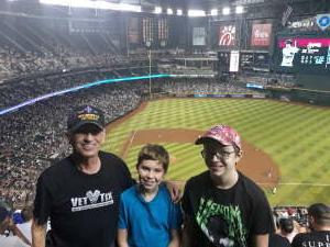 Dick Burgess  attended Arizona Diamondbacks vs. Chicago Cubs - MLB on Jul 16th 2021 via VetTix