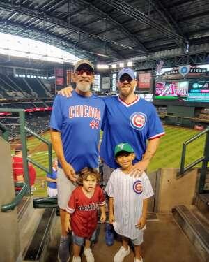 DJ attended Arizona Diamondbacks vs. Chicago Cubs - MLB on Jul 17th 2021 via VetTix