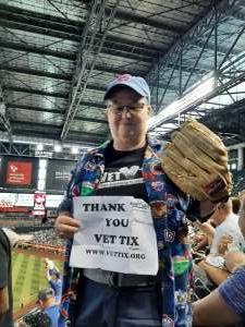 Cindy attended Arizona Diamondbacks vs. Chicago Cubs - MLB on Jul 17th 2021 via VetTix