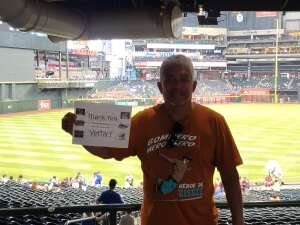 Richard attended Arizona Diamondbacks vs. Chicago Cubs - MLB on Jul 17th 2021 via VetTix