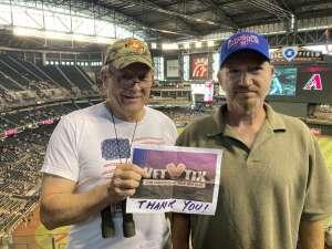 Tom Brown attended Arizona Diamondbacks vs. Chicago Cubs - MLB on Jul 17th 2021 via VetTix