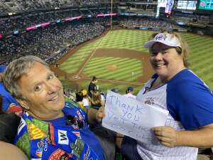 Bob and Dawn attended Arizona Diamondbacks vs. Chicago Cubs - MLB on Jul 17th 2021 via VetTix