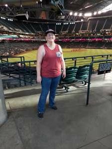 Jessica  attended Arizona Diamondbacks vs. Pittsburgh Pirates - MLB on Jul 19th 2021 via VetTix