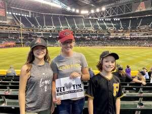 Mike H. attended Arizona Diamondbacks vs. Pittsburgh Pirates - MLB on Jul 19th 2021 via VetTix