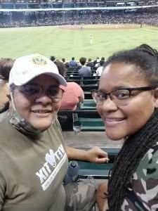 Carolyn JA attended Arizona Diamondbacks vs. Pittsburgh Pirates - MLB on Jul 19th 2021 via VetTix