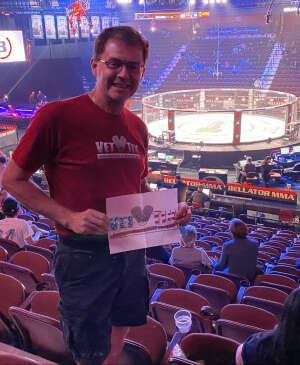 Gregory  attended Lima vs. Amosov - Bellator Mixed Martial Arts on Jun 11th 2021 via VetTix