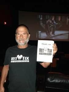 Armando  attended Roadhouse Cinemas Thursday for Vets on Jul 8th 2021 via VetTix
