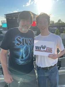 Gary attended STYX and Collective Soul on Jun 20th 2021 via VetTix
