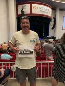 Tony  attended An Evening With Chicago and Their Greatest Hits on Jul 15th 2021 via VetTix