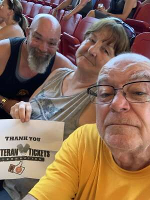 Robert attended An Evening With Chicago and Their Greatest Hits on Jul 15th 2021 via VetTix