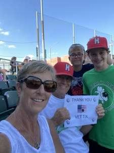 The Adkins  attended Dayton Dragons vs. Great Lakes Loons - MiLB on Jun 13th 2021 via VetTix