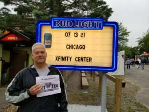 Kevin attended An Evening With Chicago and Their Greatest Hits on Jul 13th 2021 via VetTix