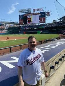 Christopher attended Washington Nationals vs. Los Angeles Dodgers - MLB on Jul 4th 2021 via VetTix