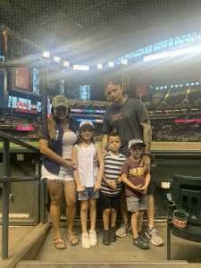 Stephanie attended Arizona Diamondbacks vs. San Diego Padres - MLB on Aug 13th 2021 via VetTix