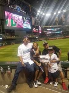 Steve attended Arizona Diamondbacks vs. San Diego Padres - MLB on Aug 13th 2021 via VetTix