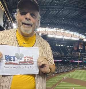 Jack attended Arizona Diamondbacks vs. San Diego Padres - MLB on Aug 13th 2021 via VetTix