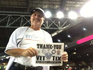 Ray - USAF Veteran attended Arizona Diamondbacks vs. San Diego Padres - MLB on Aug 13th 2021 via VetTix