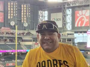 Robert  attended Arizona Diamondbacks vs. San Diego Padres - MLB on Aug 13th 2021 via VetTix