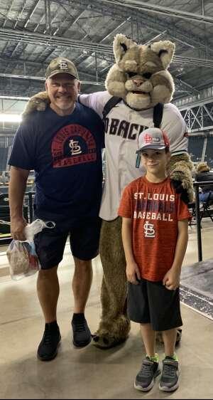 John Erley (USAF Ret MSgt) attended Arizona Diamondbacks vs. San Diego Padres - MLB on Aug 13th 2021 via VetTix