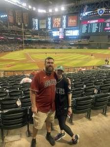 Chuck P attended Arizona Diamondbacks vs. San Diego Padres - MLB on Aug 13th 2021 via VetTix