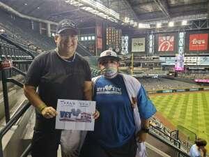 Denise  attended Arizona Diamondbacks vs. San Diego Padres - MLB on Aug 13th 2021 via VetTix