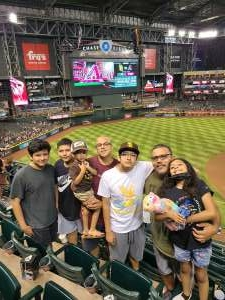 SC attended Arizona Diamondbacks vs. San Diego Padres - MLB on Aug 13th 2021 via VetTix