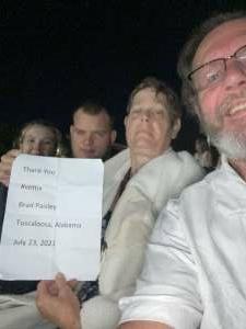Terry Davis attended Brad Paisley Tour 2021 on Jul 23rd 2021 via VetTix