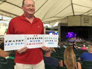 Chuck Heusinger attended An Evening With Chicago and Their Greatest Hits on Jun 27th 2021 via VetTix