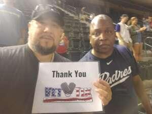 MEL LO attended Arizona Diamondbacks vs. San Diego Padres - MLB on Aug 14th 2021 via VetTix