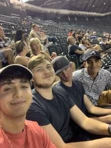 Francisco Ruiz attended Arizona Diamondbacks vs. San Diego Padres - MLB on Aug 14th 2021 via VetTix