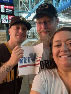 Brent Sturdy attended Arizona Diamondbacks vs. San Diego Padres - MLB on Aug 14th 2021 via VetTix