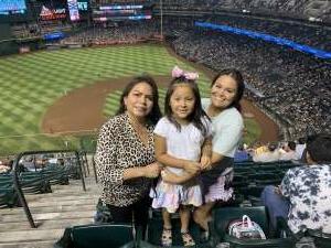 Janice attended Arizona Diamondbacks vs. San Diego Padres - MLB on Aug 14th 2021 via VetTix