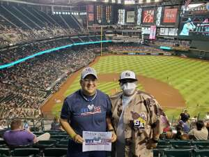 Denise  attended Arizona Diamondbacks vs. San Diego Padres - MLB on Aug 14th 2021 via VetTix