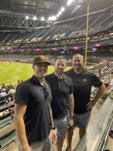 Jobe D attended Arizona Diamondbacks vs. San Diego Padres - MLB on Aug 30th 2021 via VetTix