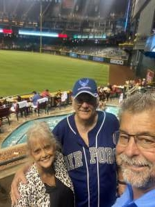 Jon Goodbar attended Arizona Diamondbacks vs. San Diego Padres - MLB on Aug 30th 2021 via VetTix