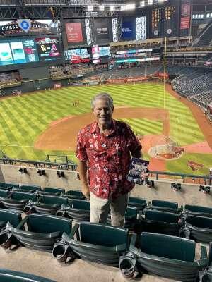 Martin attended Arizona Diamondbacks vs. San Diego Padres - MLB on Aug 30th 2021 via VetTix