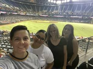 Christine Medrano attended Arizona Diamondbacks vs. San Diego Padres - MLB on Aug 30th 2021 via VetTix