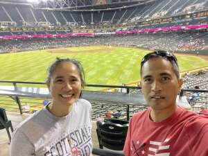 Chris attended Arizona Diamondbacks vs. San Diego Padres - MLB on Aug 30th 2021 via VetTix