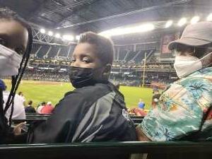 Adrienne S attended Arizona Diamondbacks vs. San Diego Padres - MLB on Aug 30th 2021 via VetTix