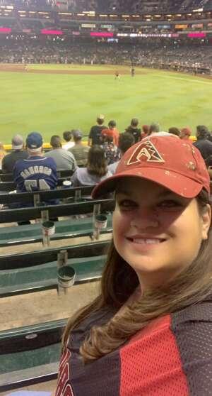 Christina attended Arizona Diamondbacks vs. San Diego Padres - MLB on Aug 30th 2021 via VetTix